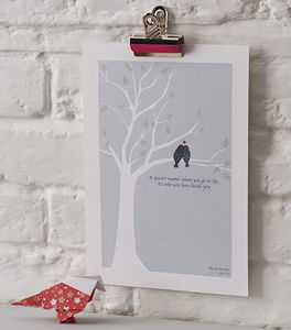 Personalised Love Birds Print - living room