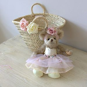 Flowergirl Bear With Wedding Basket - wedding thank you gifts