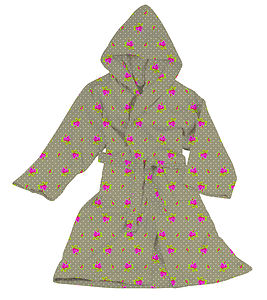 Roses And Dots Khaki Bathrobe By Pip Studio - home sale
