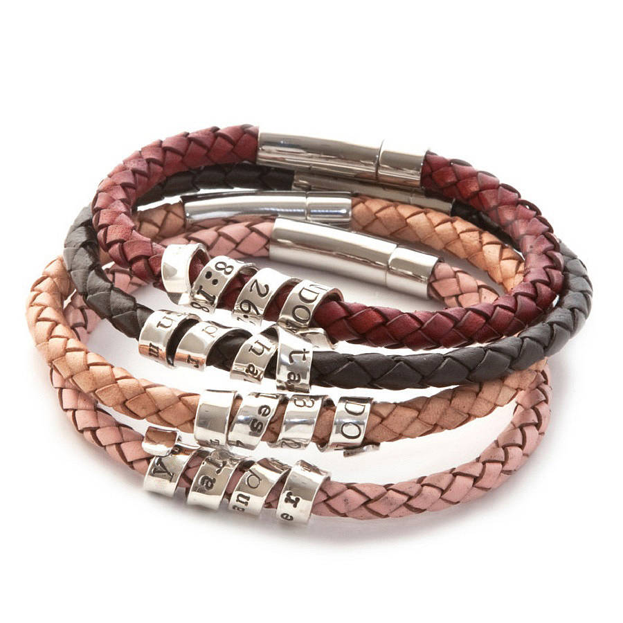 themoderntales the tales leather products whole puzzle twisted modern silver piece twistedleather bracelet