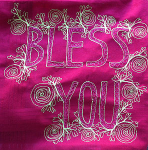 'Bless You' Or 'Love You' Art Handkerchief