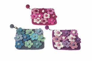 Handmade Felt Flower Explosion Purse - bags & purses