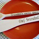 Personalised Plain spoon & spatula set