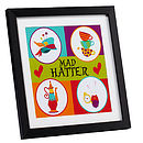 FEATHER GREY MAD HATTER PRINT