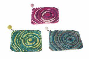 Handmade Felt Whirlpool Purse