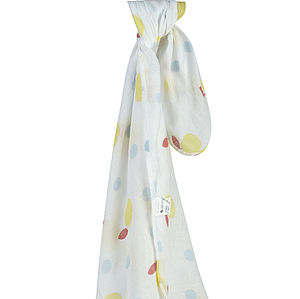 Apple Muslin Swaddle - soft furnishings & accessories