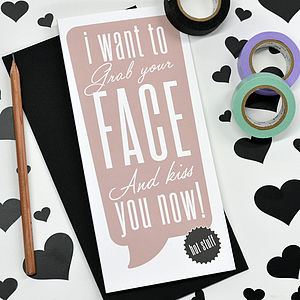 'Grab Your Face' Valentine's Card - funny cards