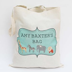 Personalised Zoo Tote Bag - children's accessories