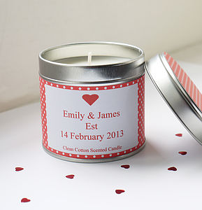 Personalised 'Engagement' Candle - bedroom