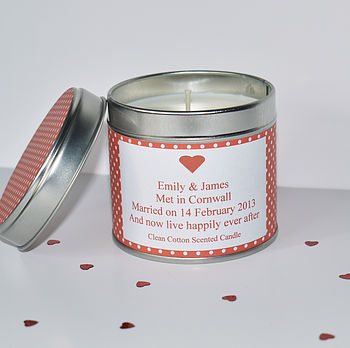 Personalised 'Anniversary' Candle
