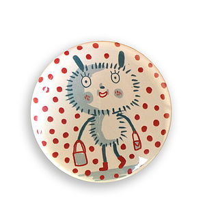 'Dotty' Pocket Mirror - winter sale