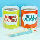 'Hello Handsome' Mug