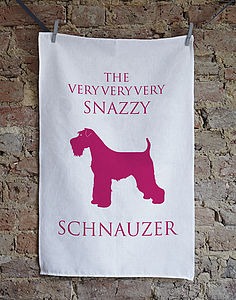 The Snazzy Schnauzer Tea Towel - kitchen linen