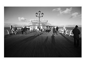 Shadows, Cromer Pier, Black And White Signed Print