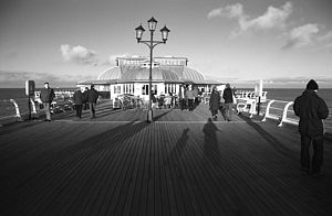 Shadows, Cromer Pier, Black And White Signed Art Print - architecture & buildings