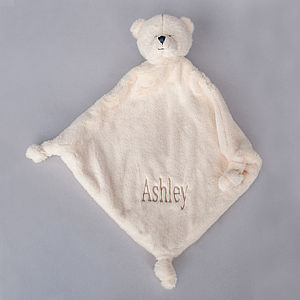 Personalised Teddy Velour Baby Comforter - baby & child