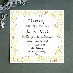Personalised Spring Wedding Invitation - invitations