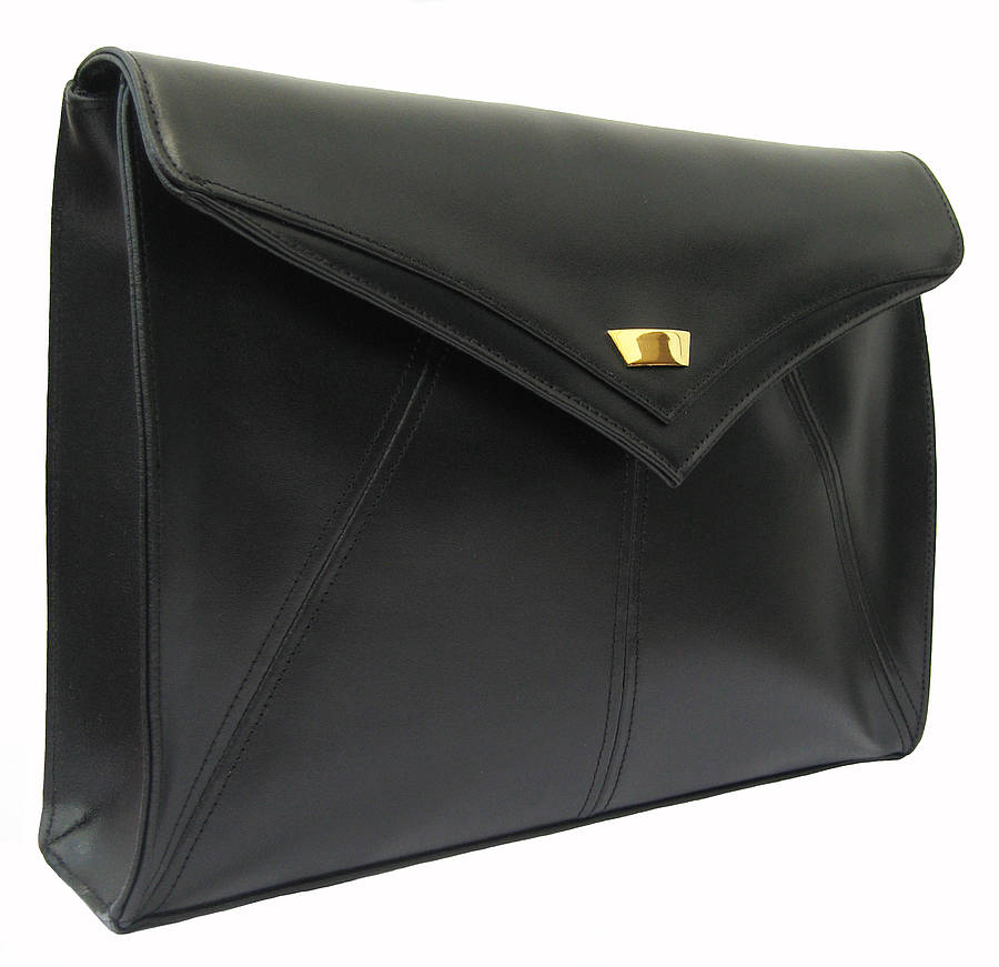 edie classic leather clutch bag by amy george | notonthehighstreet.com
