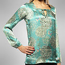 Allium Turquoise Silk Top