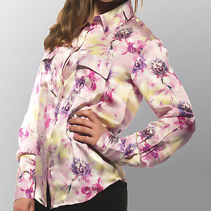 Passion Flower Silk Shirt - blouses & shirts