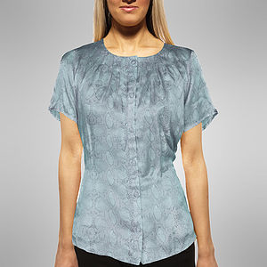 Snakeskin Print Silk Top