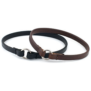 Leather Id Tag Collar - dog collars