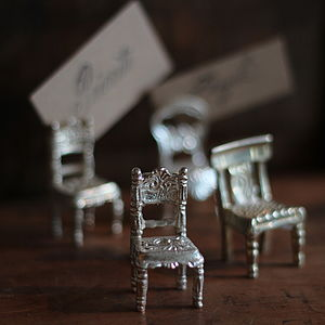 Set Of Four Chair Name Card Holders - table decorations