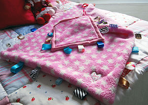 Personalised Taggie Blanket And Taggie Set - blankets, comforters & throws