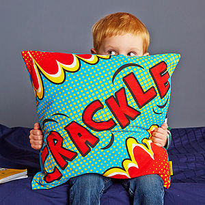 Crackle Comic Book Cushion - cushions