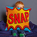 Snap Comic Book Cushion