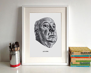 Alfred Hitchcock Print