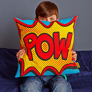 Pow Comic Book Cushion - children's room