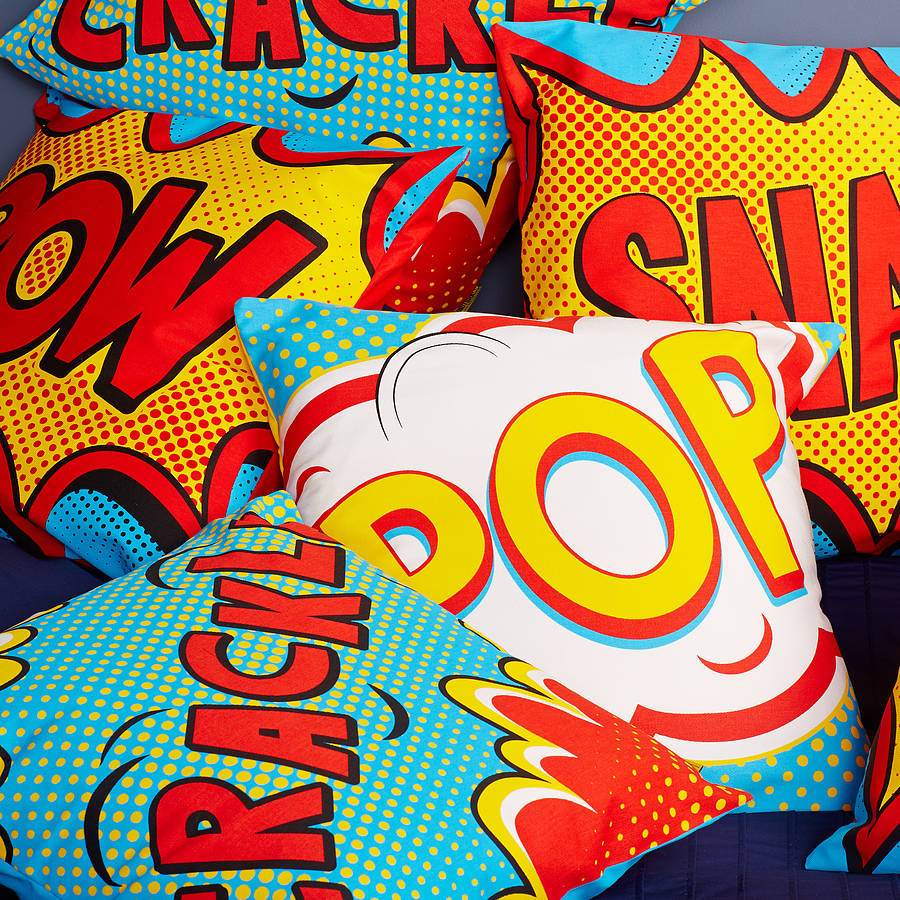 pow comic book cushion by coconutgrass | notonthehighstreet.com