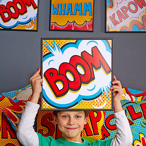 'BOOM' Pop Art Print - gifts for geeks