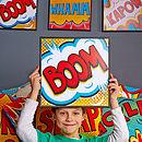 'BOOM' Pop Art Print