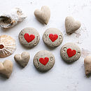 Personalised Initials Ceramic Heart Pebble
