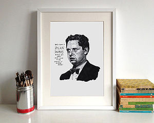 Dylan Thomas Print - art & pictures