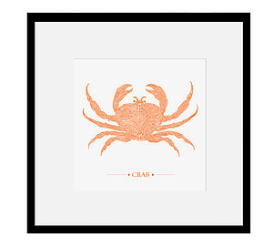 Crab Print - pictures & prints for children