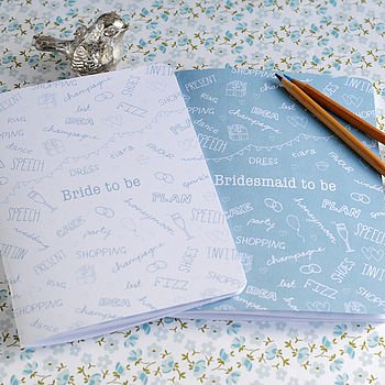 Bride And Bridesmaid Notebooks