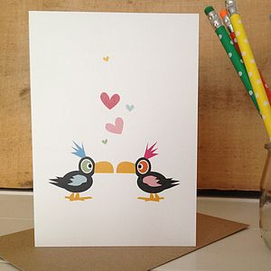 Toucan Wedding, Anniversary And Valentines Card - anniversary cards