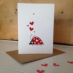 Love Bug Ladybird Greetings Card - engagement cards