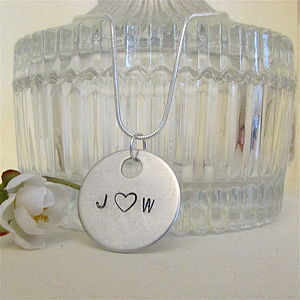 Couples Personalised Initials Necklace