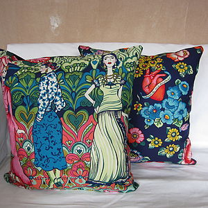 Frida Kahlo, La Catrina Cushion Cover - patterned cushions