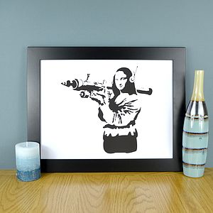 Mona Lisa Banksy Print - contemporary art