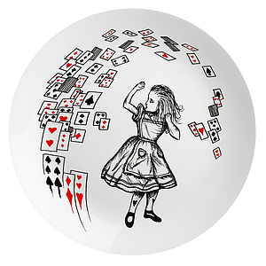 'Alice In The Cards' Wonderland Plate