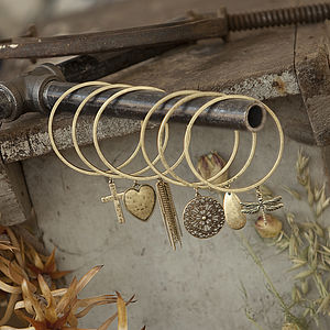 Antique Gold Bangle With Charm
