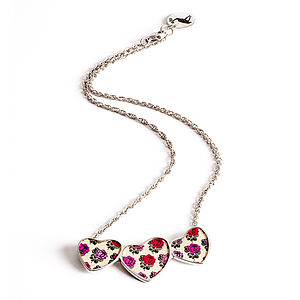 Rose Heart Cluster Chain Necklace - necklaces & pendants