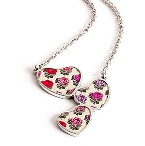 Rose Heart Drop Chain Necklace - necklaces & pendants