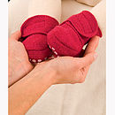 Organic Boiled Wool Non Slip Baby Booties