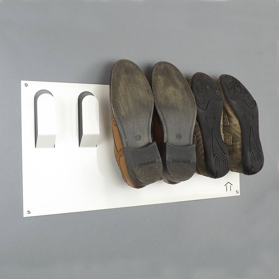 Stylish Wall Mounted Shoe Rack By The Metal House Limited
